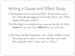 Cause And Effect Essay Samples Examples Of Cause And Effect Essays Topics Andone