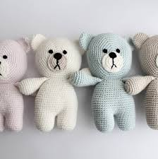 hand crafted baby first teddy bear