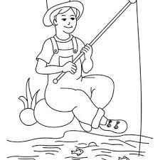 Small Picture Fisherman Talking to a Fish Coloring Page Coloring Sky