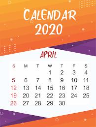 Free April 2020 Printable Calendar In Pdf Word Excel