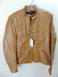 cs19 1970 s vintage brooks motorcycle mid heavy weight leather jacket chest 41 inches talon zippers and zip out liner 150