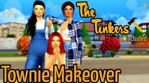 The Tinkers 🔨 | Tina, Yasemin, and Olive | Sims 4 Iconic Townie Makeover  💄 - YouTube