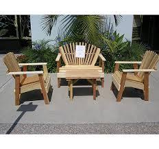 wood porch furniture. Modren Porch 4 Piece Unfinished Wood Patio Set On Porch Furniture O