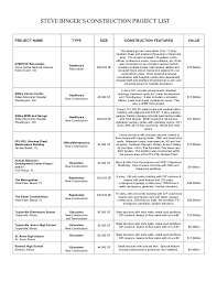 Steve Binger - Resume & Project List