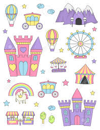 Elements Of A Fairy Tale Fantasy Fairy Tale World Princess Castle Items And Design Elements