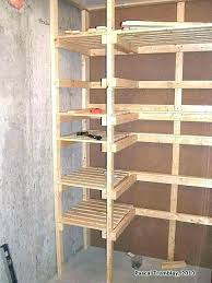 basement storage shelves wood save plans making for closet under stairs she