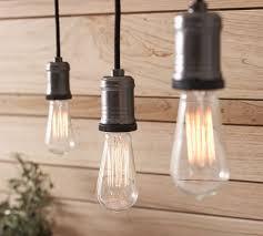 stylish track lighting. Stylish Track Lighting Pendants Exposed Bulb Pendant Pottery Barn