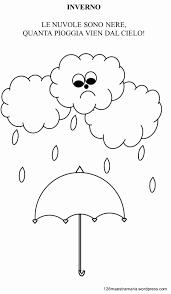 Disegni Da Colorare E Disegnare Disegno Pioggia Libretto Sulla