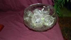 lot glass punch bowl set indiana carnival
