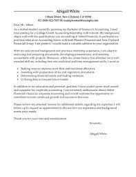 Sample Finance Internship Cover Letter Sample Accounting Internship Cover Letter Under Fontanacountryinn Com