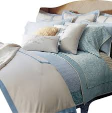 ralph lauren indochine linen cream blue linen 13pc cal king duvet cover set contemporary