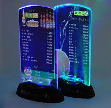 Menu Display Stands Restaurant Interesting Discount RestaurantHotelBarKtv Night Club Led Table Menu Display