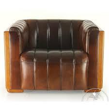 brown vintage leather club chair belem