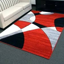red black area rugs design abstract wave rug 5 x 7 color barrera and