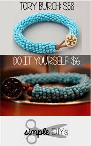 tory burch inspired beaded bracelet diy beaded bracelets you bead crafts should be making