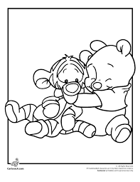 Disney Babies Coloring Pages Pooh And Tigger Disney Babies Coloring