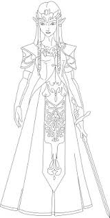 Botw including barbarian armor set in the loz: Princess Zelda Coloring Pages