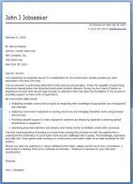 Gallery Of Construction Cover Letter