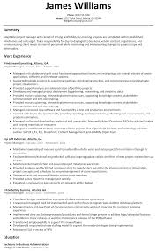 Project Manager Resume Sample Resumelift Com