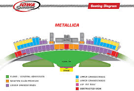 Metallica Iowa Speedway Seating Chart Only Two Tickets Are Allowed Per Person Per Show Any