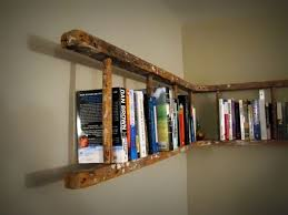 how to repurpose old furniture.  Furniture Old Ladder Into Bookshelf And How To Repurpose Furniture I
