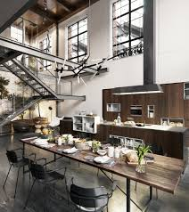 Dining Room Designs: Glass And Stone Industrial Dining Table - Industrial