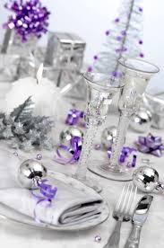 Purple Themed Bathroom Christmas Table Decoration Ideas Purple And Silver Awesome