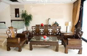 Living Room Antique Furniture Living Room Furnished With Antique Chinese Rosewood Furniture