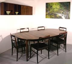 arne vodder sibast rosewood dining table chairs suite