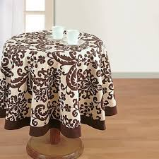 musk printed round table linen 9009