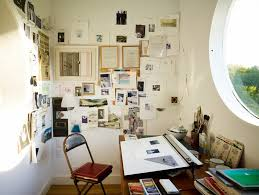 Decorating art studio ideas home office industrial with art room wall  collage art studio