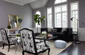 Side Chairs Living Room Gray Living Room With Black Sofa And Side Chairs Popular Gray