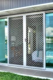 diamond grille security sliding doors
