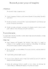 Science Project Outline Template Proposal Major Sample