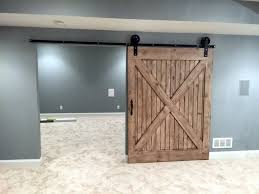 jumbo wheel sliding flat track barn door hardware kit with 8 feet track 96 made in usa the barn door hardware