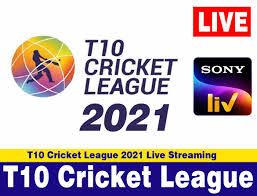 T10 Cricket League 2021 Live Streaming & TV Channels: T10 League 2021 Live  Online in India, Pakistan, United States, United Kingdom, Canada, Australia