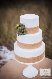Three Tier Rustic Wedding Cake Chcocolate Tier Vanilla Tier Red