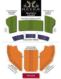 Seating Chart Meyer Theatre Green Bay Wi