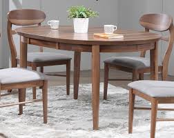 Eci Furniture Mid Modern Round Leg Dining Table In Contemporary