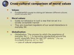 moral values across time and culture a meta analysis using the cross cultural comparison of moral values values fundamental concept to distinguish between different cultures