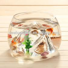 Decorative Fish Bowls Unique Shaped Glass Goldfish Bowl Mini Round Aquarium Decorative 34