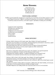 Resume Templates: Legal Receptionist Resume