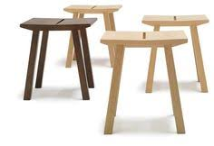 low wooden stool woody collection by andreu world