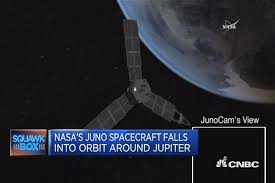 nasa s juno spacecraft enters jupiter s orbit after year journey juno spacecraft reaches jupiter