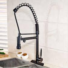 black kitchen faucet remarkable tall pull down swivel 2 spout kitchen faucet oil rubbed bronze black