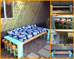 concrete block furniture. perfect block diy patio furniture archive cinder block bench in concrete block furniture
