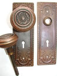 copper door knobs. antique restoration hardware copper door knobs