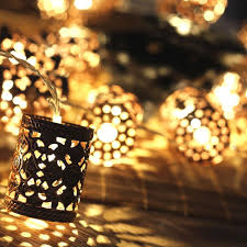 Round Warm White Christmas Lights Battery Operated 1 1m Led Warm White Retro Round Lantern String Fairy Lights For Christmas Holiday