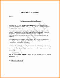 Work Experience Certificate Template Mitocadorcoreano Com