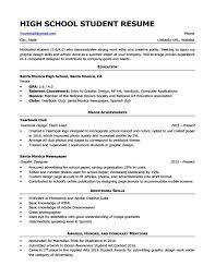 High School Resume For College Template Magnificent High School Student Resume Example Pdf College Samples For Senior